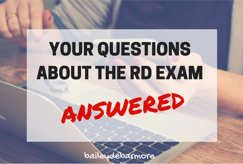 RD Exam FAQ from Bailey DeBarmore Tutoring