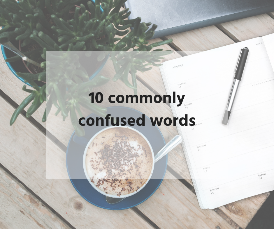 10 commonly confused words